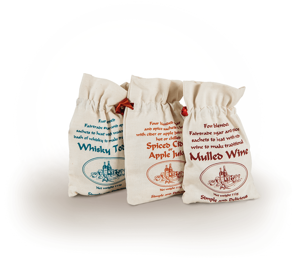 Old Hamlet Wine and Spice Mulled spices in cotton bags